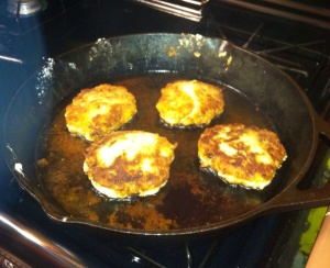 Frying fritters